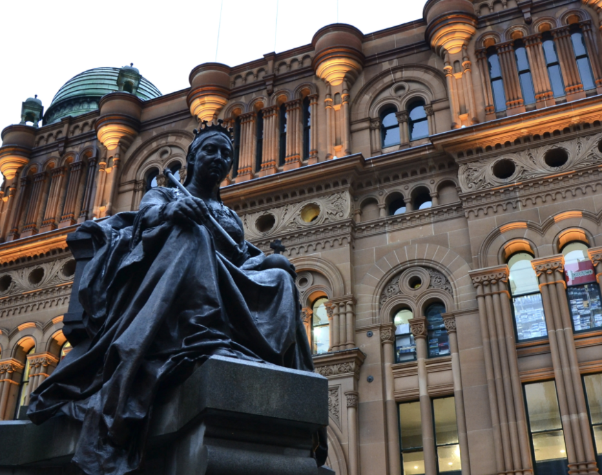 The Queen Victoria building or QVB